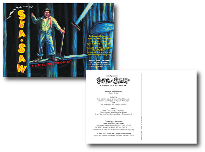 Sea-Saw Theatrical Production: Postcard Announcement