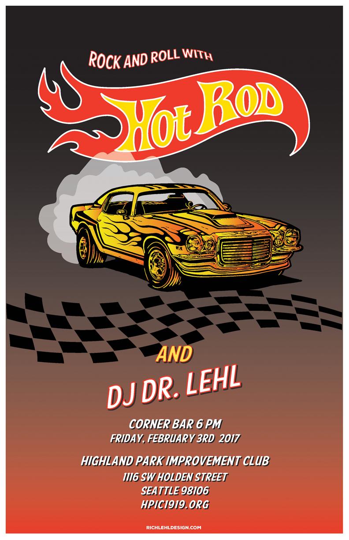 HPIC Corner Bar Event Poster: Hot Rod