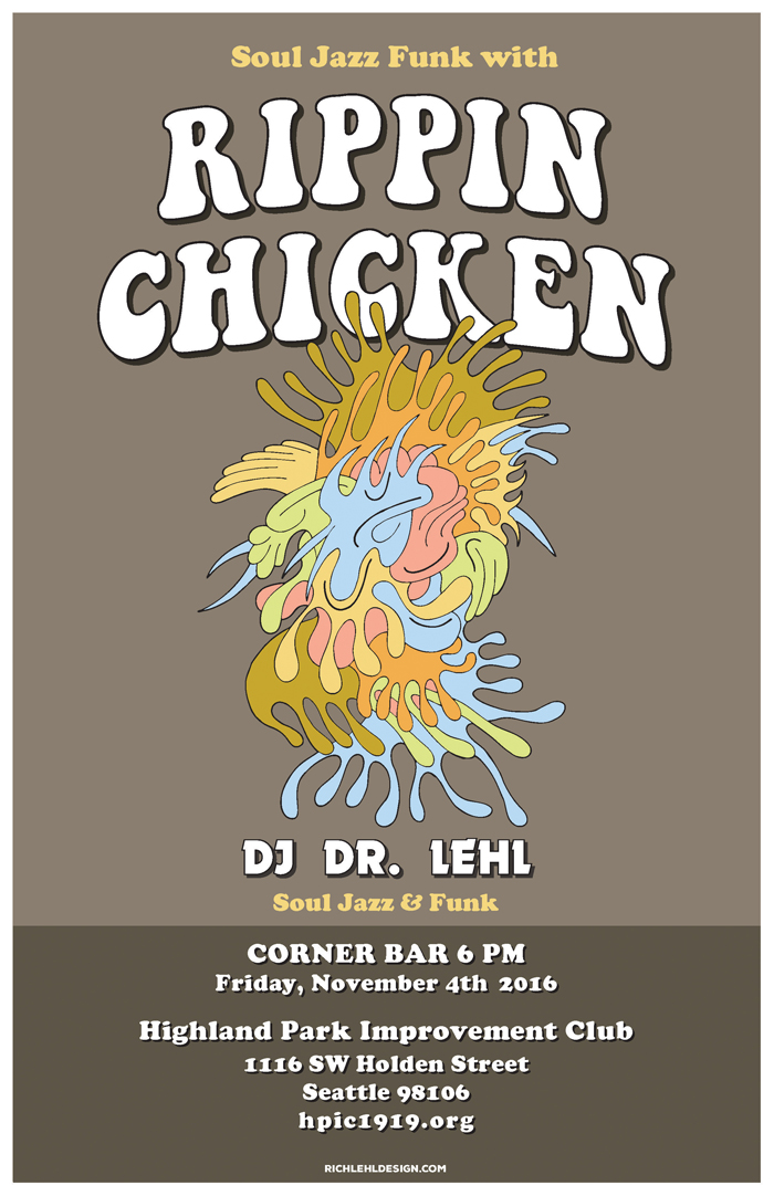 HPIC Corner Bar Event Poster: Rippin' Chicken